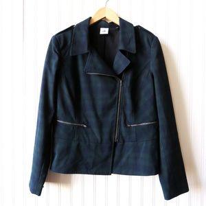 CAbi Womens Career Zip Tartan Jacket Blazer Plaid